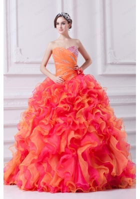 Beautiful Multi-color Sweetheart Beading and Ruching Quinceanera Dress