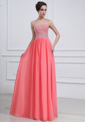 Latest Sweetheart Watermelon Red 2015 Prom Dress with Beading