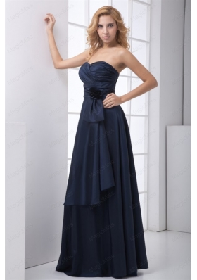 Simple Blue Column Sweetheart Ruching Mother of the Bride Dresses