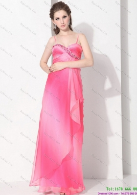 Remarkable 2015 Spaghetti Straps Prom Dress in Multi Color