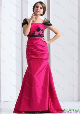 Luxurious 2015 Prom Dress with  Brush Train and Hand Made Flowers