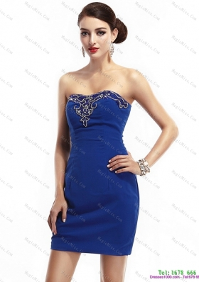 The Most Popular Strapless Short 2015 Prom Dresses with Appliques