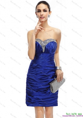 Popular Sweetheart Prom Dresses with Ruching and Beading