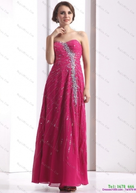 2015 Pretty Sweetheart Floor Length Prom Dress with Beading