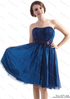 2015 Luxurious Sweetheart Mini Length Prom Dress with Belt and Beading