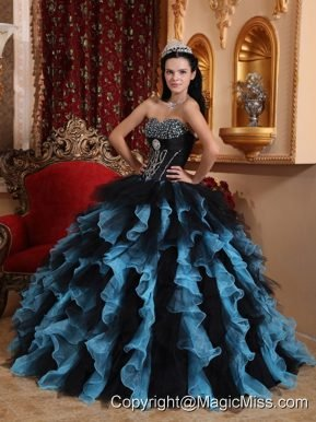 Exclusive Ball Gown Sweetheart Floor-length Organza Beading Quinceanera Dress