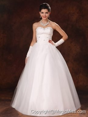 Sweetheart Beaded Tulle Modest Garden Wedding Dress Custom Made For 2013 In Birmingham Alabama