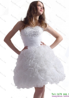 2015 New Style Sweetheart Wedding Dress with Lace and Ruffles