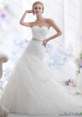 2015 Gorgeous Sweetheart Wedding Dress with Beading