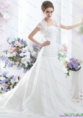 Fashionable A Line Strapless Wedding Dress for 2015