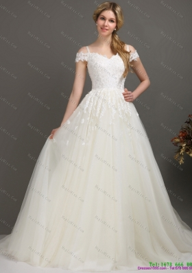 2015 New Off the Shoulder Wedding Dress with Beading
