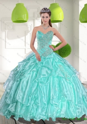 Latest Ball Gown Sweetheart Appliques and Beading Quinceanera Dresses