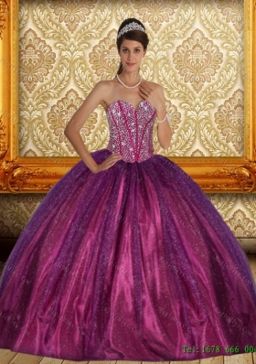Brand New Beading Sweetheart Ball Gown Sweet 15 Dress for 2015