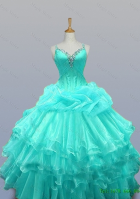 cc64c74c78 Custom Make Straps Quinceanera Dresses with Beading and Ruffled Layers
