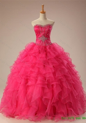 Real Sample Sweetheart Quinceanera Dresses with Beading and Ruffles for 2015