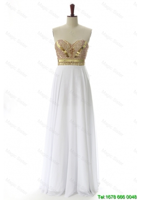 Vintage Empire Sweetheart Custom Made Prom Dresses with Beading and Sequins