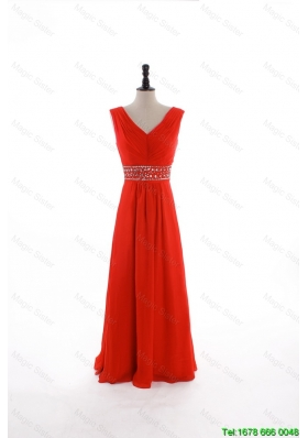 Vintage Custom Made Empire V Neck Prom Dresses with Beading and Sequins