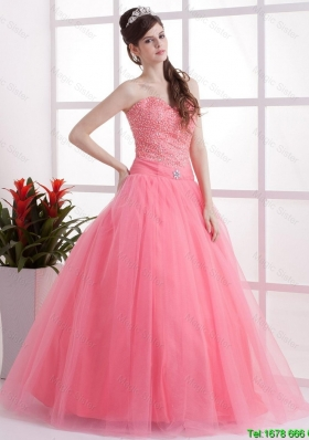 Perfect New Arrivals A Line Sweetheart Prom Dresses in Watermelon