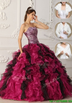 Latest 2016 Multi Color Quinceanera Gowns with Ruffles