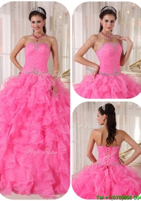 Exclusive Ball Gown Strapless In Stock Quinceanera Dresses with Beading