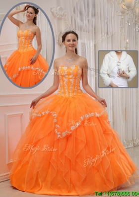 Beautiful Ball Gown In Stock Quinceanera Dresses with Appliques and Beading