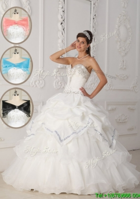 Luxurious White Ball Gown Sweetheart In Stock Quinceanera Dresses