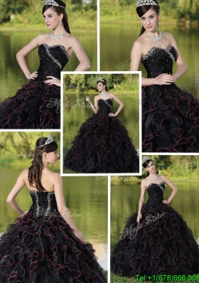 New Style Beading Sweetheart Quinceanera Dresses with Ruffles Layered