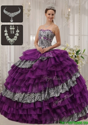 New Style Modern Purple Sweetheart Quinceanera Dresses with Beading