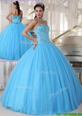 Modern Sweetheart Ball Gown Beading Plus Size Quinceanera Dresses