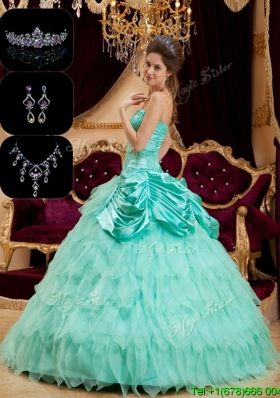 Luxurious Strapless Plus Size Quinceanera Dresses with Pick Ups and Ruffles