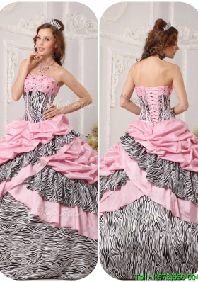 Elegant Ball Gown Strapless Floor Length Beading Plus Size Quinceanera Dresses