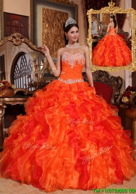 Gorgeous Ball Gown Appliques and Beading Plus Size Quinceanera Dresses