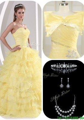 2016 Latest Beading and Appliques Sweet 16 Dresses for Fall