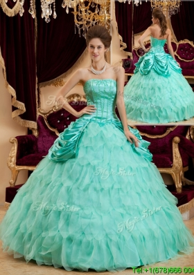 Best Selling Ball Gown Floor Length Ruffles Quinceanera Dresses