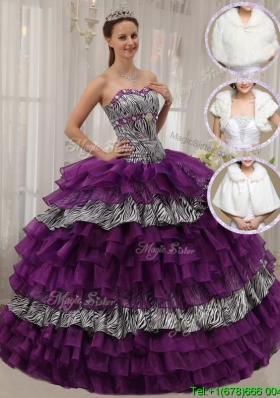 2016 Modest Purple Ball Gown Sweetheart Sweet Sixteen Dresses