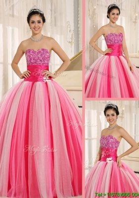 Best Selling Strapless Lace Up Quincanera Dresses in Multi Color