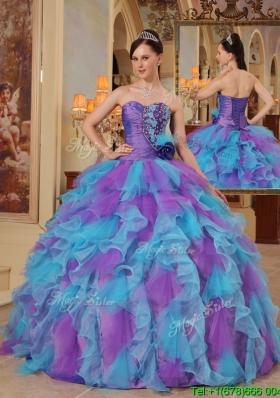 Luxurious Multi Color Ball Gown Sweetheart Quinceanera Dresses