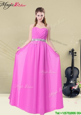 Gorgeous Empire Sweetheart Bridesmaid Dresses with Ruching and Belt