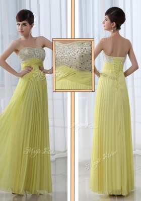 2016 Low Price Sweetheart Floor Length Beading Prom Dress for Graduation