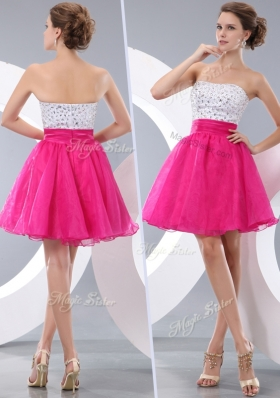 New Lovely Princess Strapless Short Prom Dresses with Beading