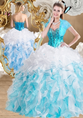 Beautiful Ball Gown Vestidos de Quinceanera Gowns with Beading and Ruffles
