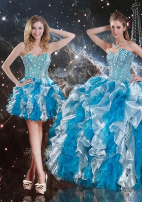 Pretty Sweetheart Multi Color Detachable Quinceanera Gowns  with Beading