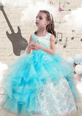 Fashionable Appliques and RufflesMini Quinceanera Dresses For 2016