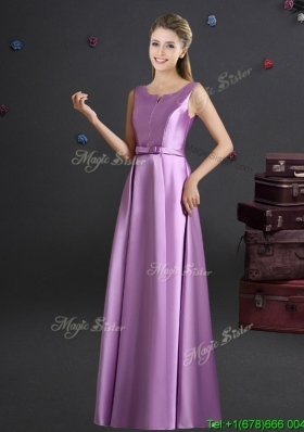 Cheap Straps Lilac Bridesmaid Dress in Elastic Woven Satin