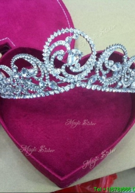 Pretty Tiaras with Beading in Silver