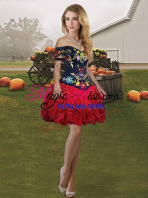 Wine Red Sleeveless Organza Lace Up for Prom and Party