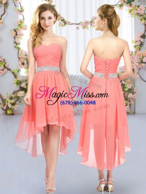 New Style Sleeveless Belt Lace Up Quinceanera Court Dresses