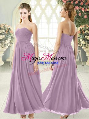 Purple Sleeveless Chiffon Zipper Homecoming Dress for Prom and Party