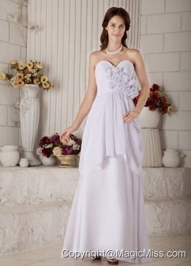 New Empire Sweetheart Floor-length Chiffon Beading Wedding Dress