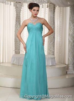 Fashionable Empire Sweetheart Floor-length Chiffon Beading Prom Dress